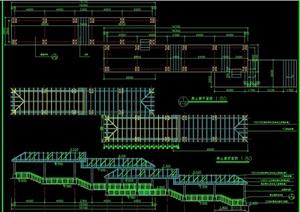 爬山廊详细完整设计cad施工图