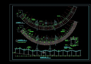 爬山玻璃廊完整详细设计cad施工图
