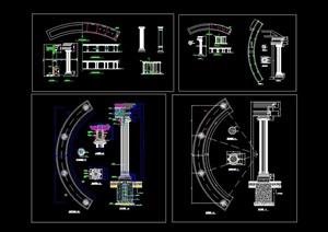 欧式廊素材设计cad施工图