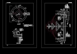 欧式喷泉详细完整设计cad施工图