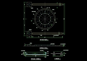 详细的阵列喷泉池cad施工图
