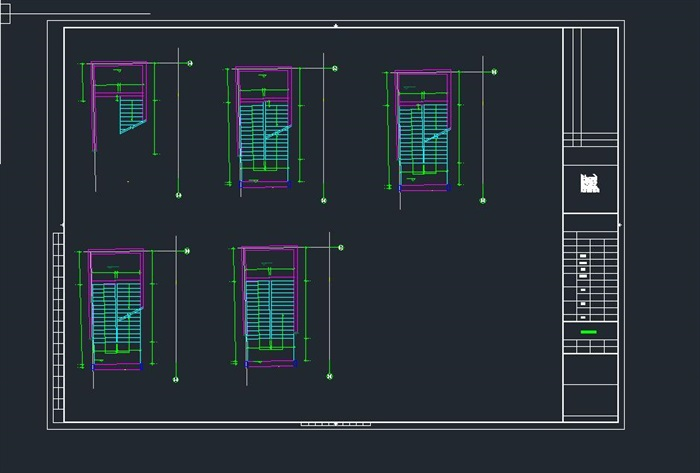 启东市科技馆全专业建筑CAD施工图(水电暖结构建筑)(4)