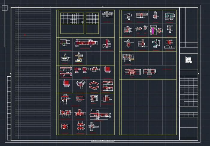 启东市科技馆全专业建筑CAD施工图(水电暖结构建筑)(9)