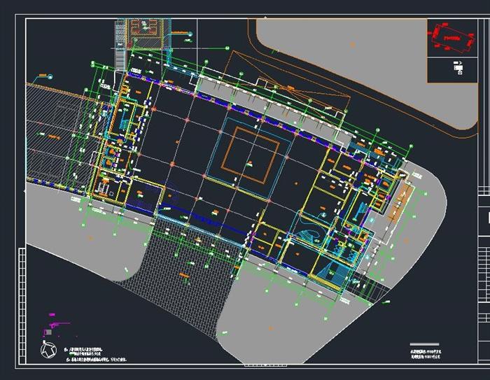 启东市科技馆全专业建筑CAD施工图(水电暖结构建筑)(10)