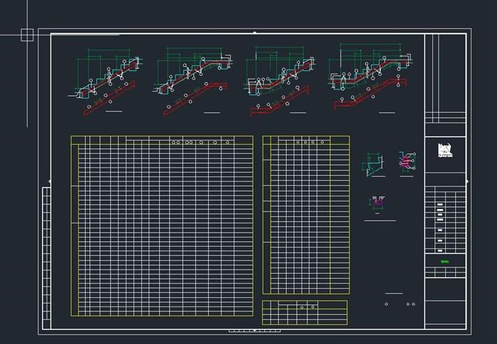 启东市科技馆全专业建筑CAD施工图(水电暖结构建筑)(11)