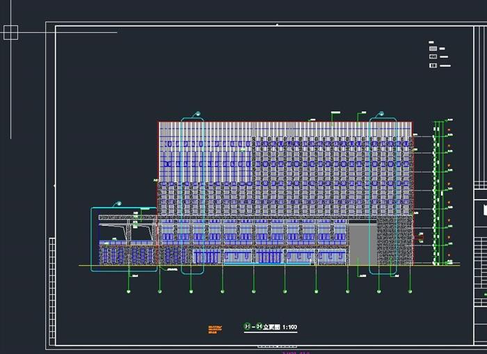 启东市科技馆全专业建筑CAD施工图(水电暖结构建筑)(13)
