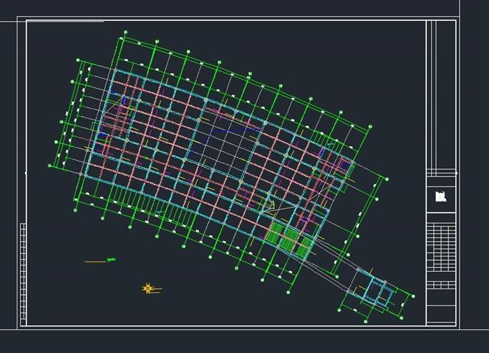 启东市科技馆全专业建筑CAD施工图(水电暖结构建筑)(15)