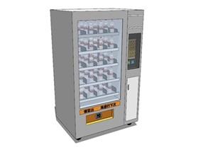 精品现代风格自动售卖机柜员机SU(草图大师)模型