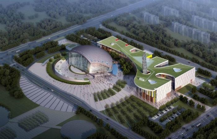 南京溧水文化艺术中心建筑设计方案(1)