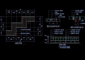 独特整体详细的木曲桥cad施工图