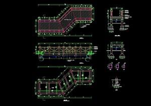 精致详细的完整木曲桥设计cad施工图