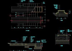 详细的完整平台素材cad施工图