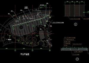 独特详细的整体平台素材cad施工图