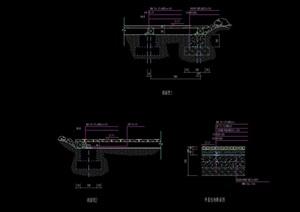 独特详细的平台设计cad剖面图