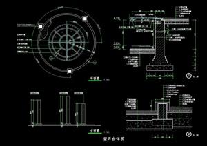 详细的观景平台cad施工图