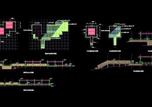 精致详细的完整平台素材设计cad施工图