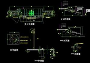 独特详细的整体平台设计cad施工图