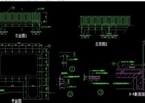 详细的栈台设计cad施工图