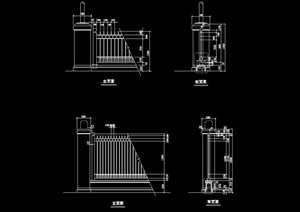 两个详细的完整栏杆设计cad方案