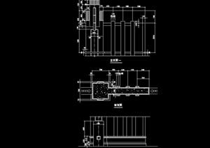 现代景观详细的完整栏杆设计cad方案图