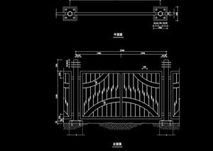 园林景观详细的完整栏杆围栏设计cad方案