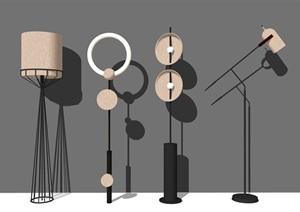 現代落地燈 燈具SU(草圖大師)模型