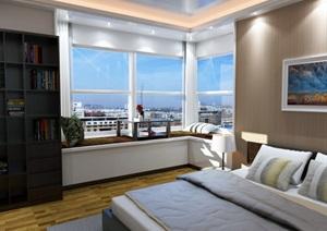 现代北欧风格室内完整设计SU(草图大师)模型