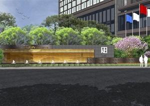 五星酒店建筑与景观深化SU(草图大师)模型
