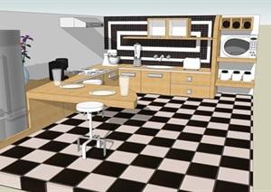 欧式风格厨房SU(草图大师)模型设计