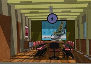 现代风格大会议室SU(草图大师)模型设计