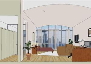 小清新风格办公空间模型