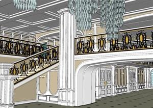 小清新风格大展厅室内设计