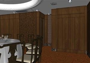 古典风格酒店包桌室内设计