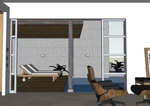 现代风格别墅SU(草图大师)模型设计