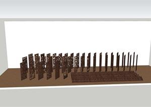 中式风格花格栅镂空隔断设计合集