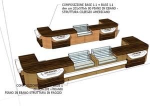 精細的辦公桌模型設計SU(草圖大師)模型