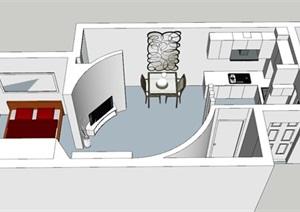 现代风格公寓住宅室内设计