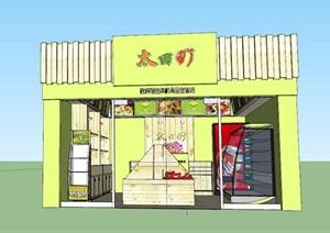 精美的蔬果店SU(草图大师)模型设计