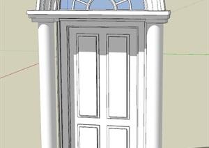 欧式拱门大门素材设计SU(草图大师)模型