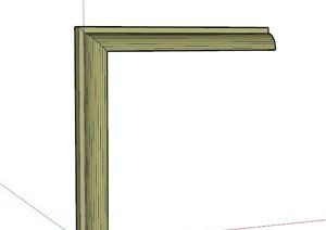 现代风格窗套SU(草图大师)模型图