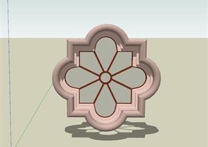 欧式风格花格窗SU(草图大师)模型