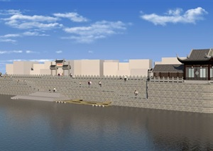 商贸码头,河埠头,新中式码头
