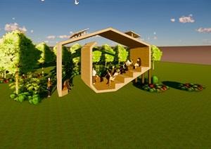 清水混凝土盒子模型 施工图
