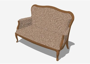 现代风格精美的沙发椅素材SU(草图大师)模型