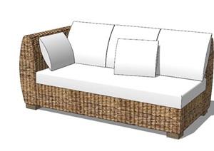 现代风格直排沙发SU(草图大师)模型