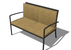 现代风格直排沙发椅SU(草图大师)模型