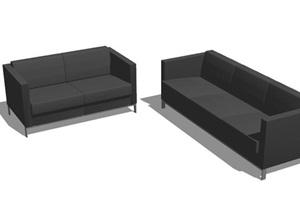 现代风格沙发组合SU(草图大师)模型
