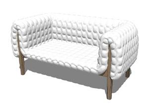 现代风格直排沙发SU(草图大师)模型图纸