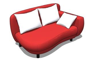 现代风格躺椅沙发模型图
