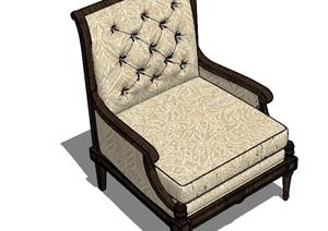 欧式古典风格单人老板椅沙发